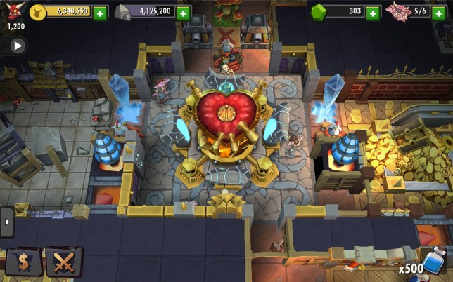 Dungeon Keeper (iOS) - please pay 10p for looking at this screenshot