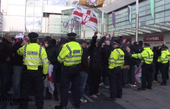 Police say that only minor incidents occurred during the rally and otherwise it went without much trouble (Picture: YouTube/Controversial Ninja)