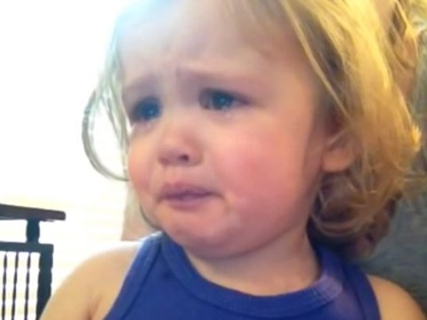 Video: Adorable toddler cries after hearing parents' wedding song for first time