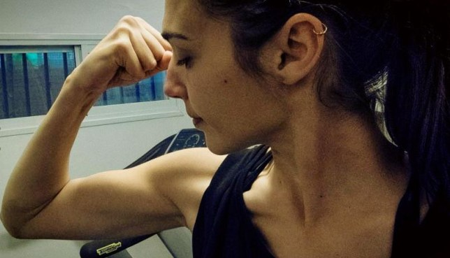 Gal Gadot shows off her muscles (Picture: Gal Gadot/Facebook)