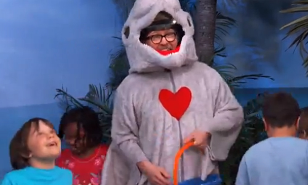 Celebrate Valentine's Day with Gary Oldman dressed as a dolphin