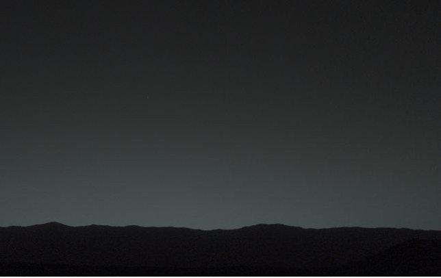 Twilight Vision White Speck That >> Mars Curiosity Rover Captures Earth In Martian Twilight Metro News