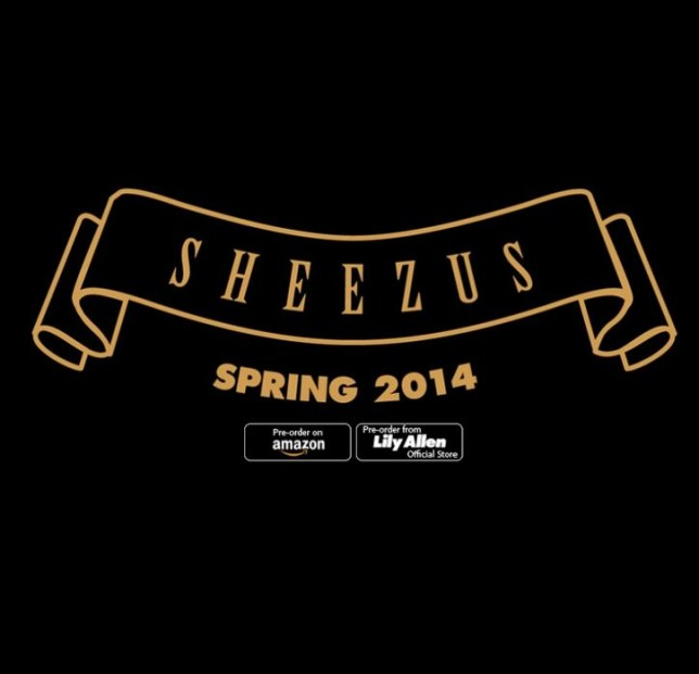 Lily Allen posted the album cover for Sheezus on her Twitter page (Picture: Lily Allen/Twitter)