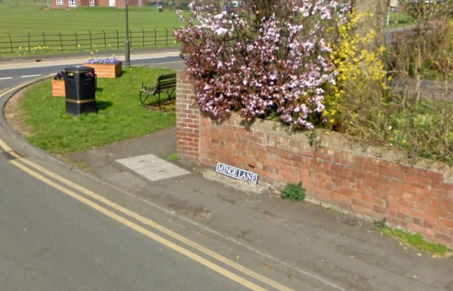 Embarrassing: Would you want to live in Minge Lane? (Picture: Google Streetview)