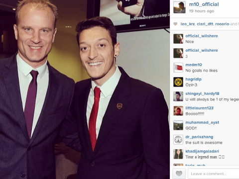 Mesut Ozil shows a brave face after 'dead leg' keeps him out of Arsenal team