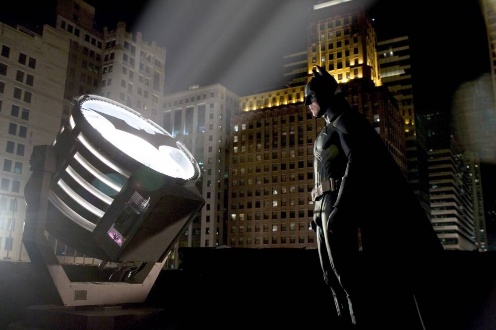 Film: Batman      (2005) Christian Bale as the new Batman Picture from: Warner Bros Picture Publicty.