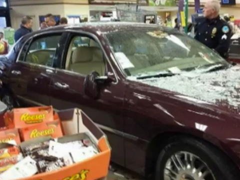 Woman buys car just so she can ram it into shop