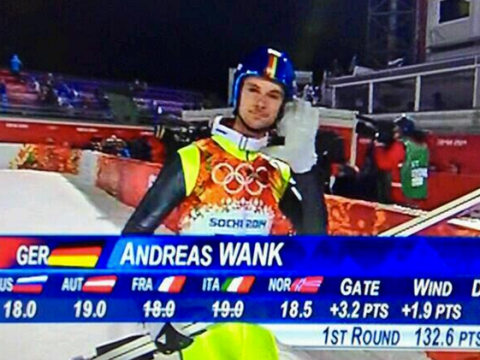 Sochi viewers resort to schoolboy humour as athletes Andreas Wank and Semen Pavlichenko compete