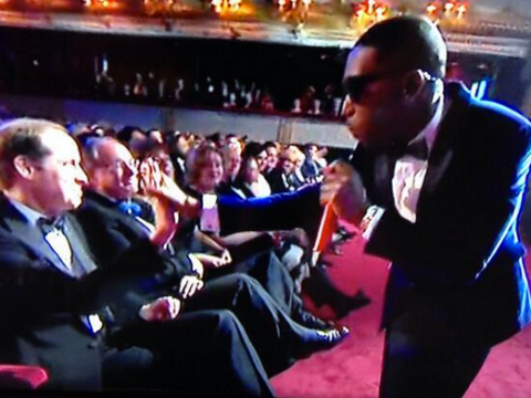 Tinie Tempah high-fives Prince William at the Baftas, monarchy dies a death