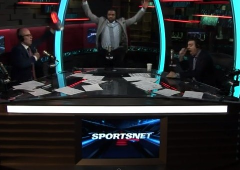 Canadian radio presenters wildly celebrate ice hockey win over USA