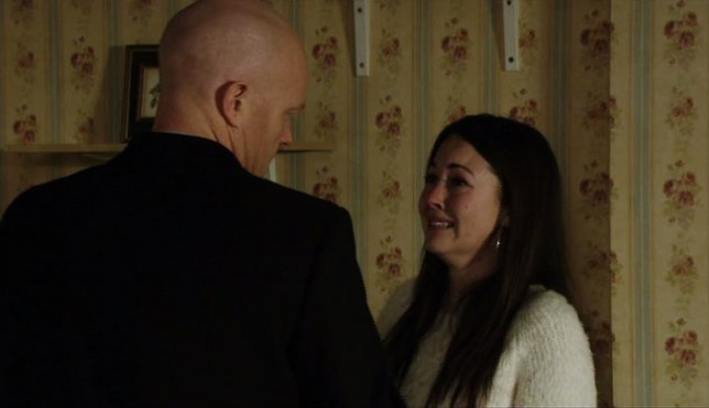 Stacey appeared to depart Eastenders for a second time after a heart-to-heart with Max (Picture: BBC)