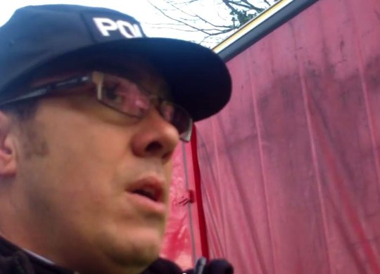 Barton Moss fracking protest: PC accused of unlawful arrest in video