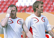 Wayne Rooney and David Beckham