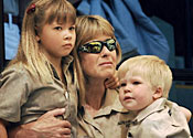 Steve Irwin's wife and children