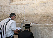 The Wailing Wall in Jerusalem is a popular attraction