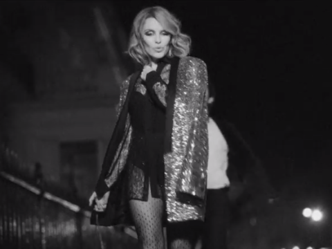 Kylie Minogue flashes legs and bum for new Into The Blue music video