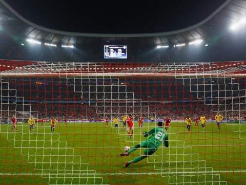 Bayern Munich forced to shut part of the Allianz Arena for Manchester United clash following offensive Arsenal banner