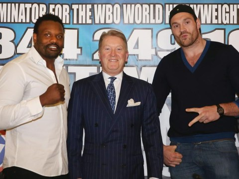 Dereck Chisora tells Tyson Fury he has 'only beaten cab drivers' as they square up for the right to fight Wladimir Klitschko