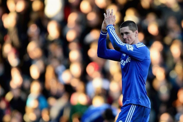 LONDON, ENGLAND - MARCH 01: Fernando Torres of Chelsea applauds the crowd during the Barclays Premier League match between Fulham and Chelsea at Craven Cottage on March 1, 2014 in London, England. Jamie McDonald/Getty Images