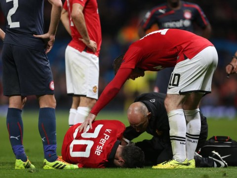 Four key games Manchester United's Robin van Persie will miss through injury