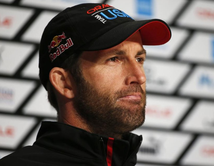 Oracle Team USA tactician Ben Ainslie speaks to members of the media after winning Race 18 of the 34th America's Cup yacht sailing race against Emirates Team New Zealand in San Francisco, California September 24, 2013. REUTERS/Stephen Lam Stephen Lam / Reuters/Reuters