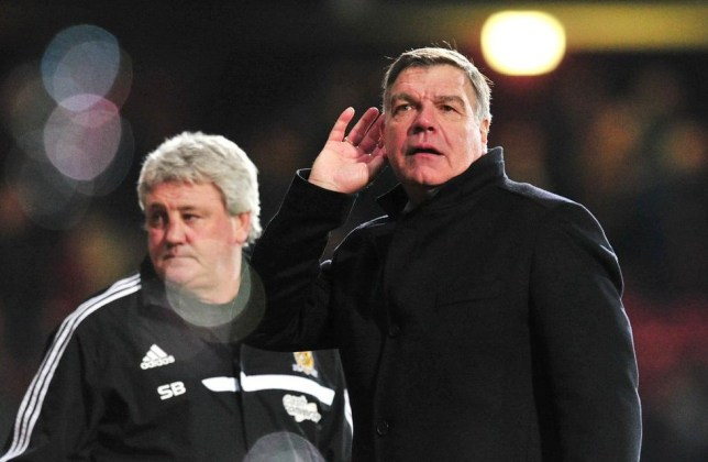 West Ham United's English manager Sam Allardyce gestures after his team won the English Premier League football match between against Hull City at the Boleyn Ground, Upton Park, in East London, England, on March 26, 2014. West Ham won the match 2-1. AFP PHOTO/GLYN KIRK RESTRICTED TO EDITORIAL USE. No use with unauthorized audio, video, data, fixture lists, club/league logos or live services. Online in-match use limited to 45 images, no video emulation. No use in betting, games or single club/league/player publications. GLYN KIRK/AFP/Getty Images
