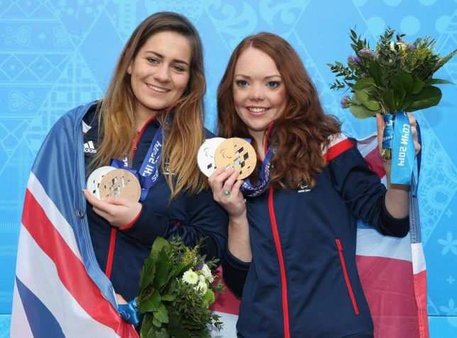 Jade Etherington, right, and guide Caroline Powell (Picture: Getty Images)