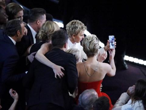 Ellen DeGeneres, Brad Pitt and Jennifer Lawrence star in the tweets that made Oscars 2014