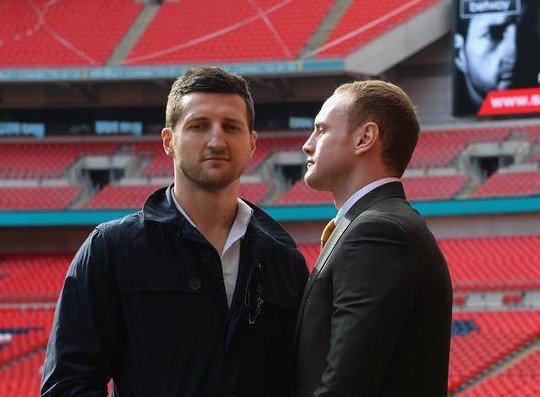 Carl Froch and George Groves today (Picture: Getty Images)