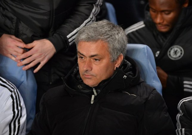 Chelsea's Portuguese manager Jose Mourinho is pictured before the start of the UEFA Champions League round of 16 second leg football match between Chelsea and Galatasaray at Stamford Bridge in London, on March 18, 2014. AFP PHOTO / BEN STANSALL AFP/AFP/Getty Images