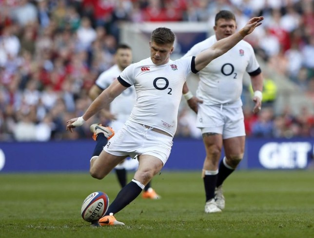 England's Owen Farrell slots another penalty against Wales (Reuters)