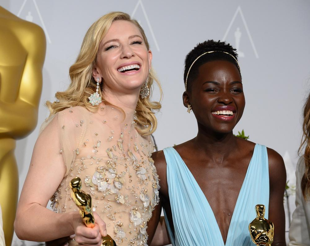 Cate and Lupita both looked fabulous on the Oscars red carpet (Picture: Jordan Strauss/Invision/AP)