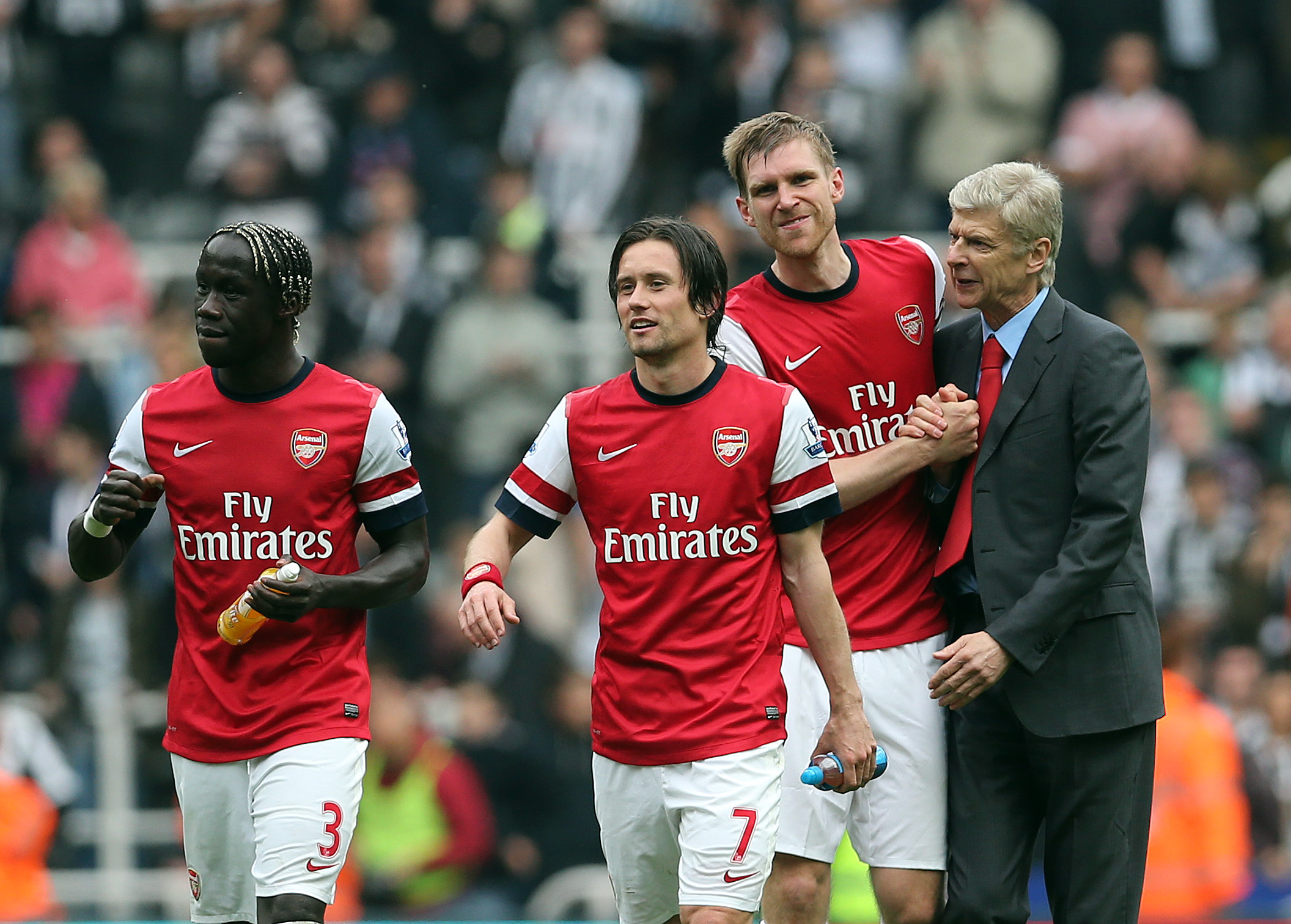 Arsenal hand Per Mertesacker, Tomas Rosicky and Aaron Ramsey new contracts – but Bacary Sagna looks set for summer transfer