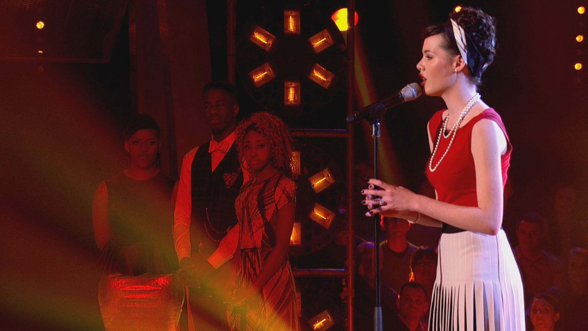 Sophie-May Williams has drawn a lot of attention since she debuted on The Voice series 3 (Picture: BBC)