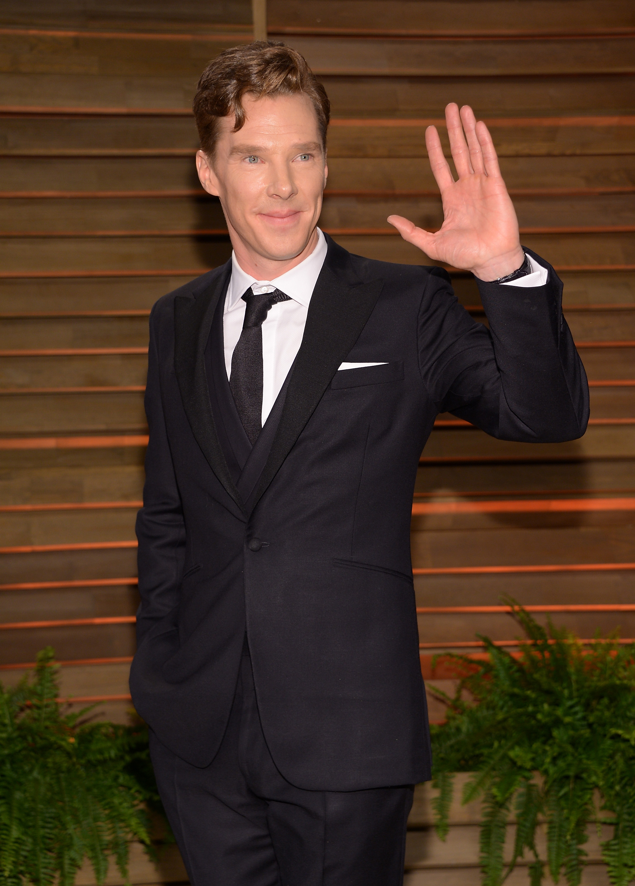 Actor Benedict Cumberbatch attends the 2014 Vanity Fair Oscar Party on Sunday, March 2, 2014, in West Hollywood, Calif. (Photo by Evan Agostini/Invision/AP)