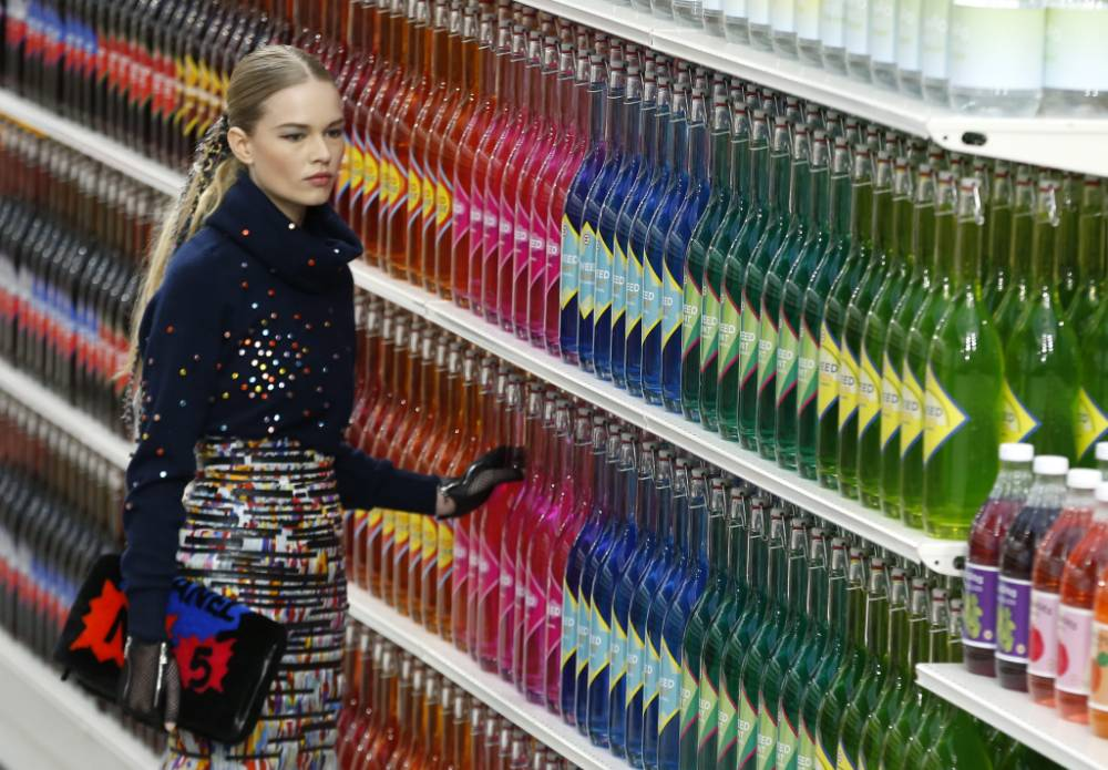 Chanel aisles of silly: It's a catwalk where you might find catfood…