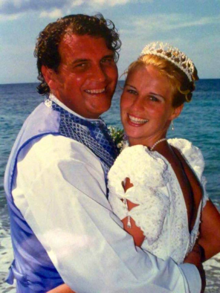 Devoted husband Adrian Cross who took his own life after seeing his wife Tammy die  in hospital of a heart condition
