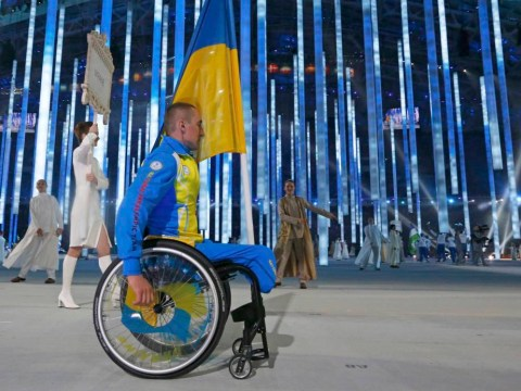 Ukraine sends lone athlete to Paralympics opening ceremony procession as Crimea tensions continue