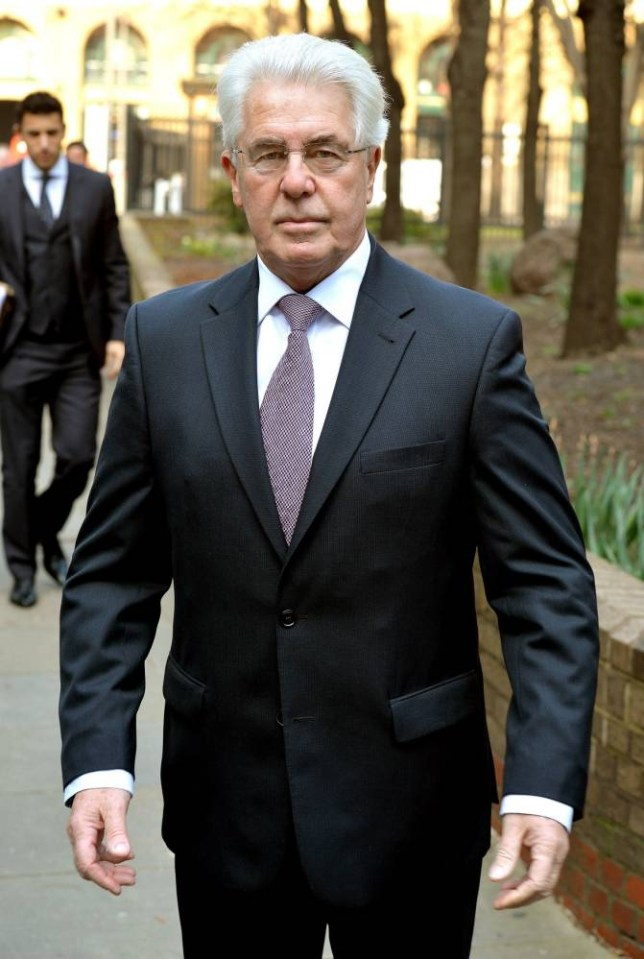 PR guru Max Clifford, 70, from Hersham in Surrey,  arrives at Southwark Crown Court where he is accused of a total of 11 counts of indecent assault against seven women and girls. PRESS ASSOCIATION Photo. Picture date: Wednesday March 12, 2014. See PA story COURTS Clifford. Photo credit should read: John Stillwell/PA Wire