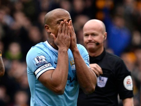 Vincent Kompany takes red card anger out on KC Stadium wall