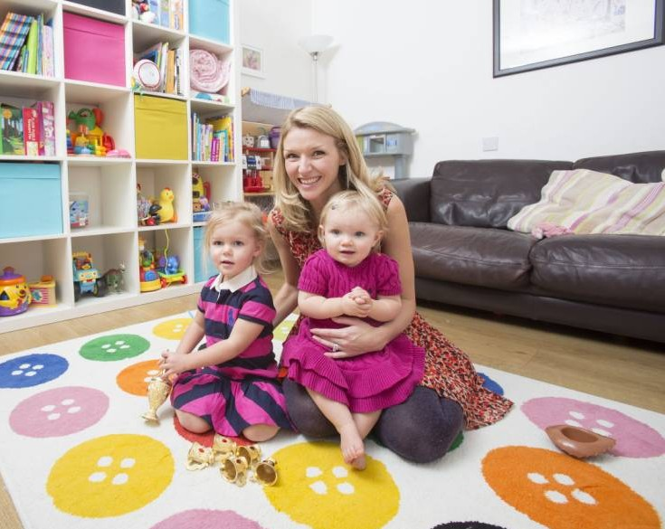 Only the best: Faye Jacobs with Scarlett, two, and Savannah, one (Pictures: Barcroft Media)
