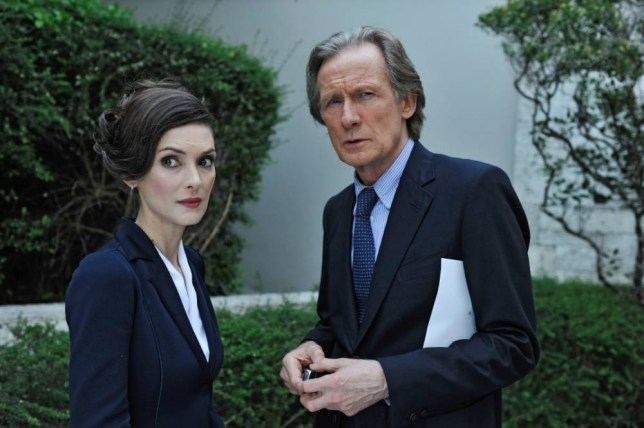 Winona Ryder as Melanie Fall and Bill Nighy as Johnny Worricker in Turks and Caicos  (Picture: Carnival Films)