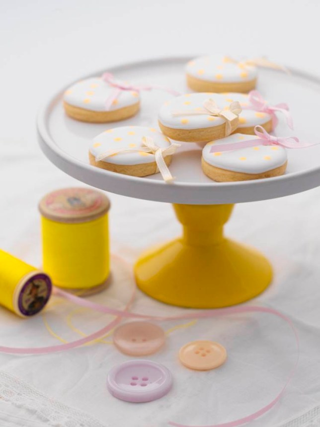 Polka-dot lemon shortbread from Treat Petite by Fiona Pearce (Picture: supplied)