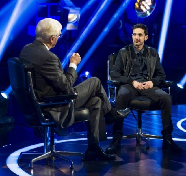 Michael Parkinson interviews illusionist Dynamo (Picture: Supplied)