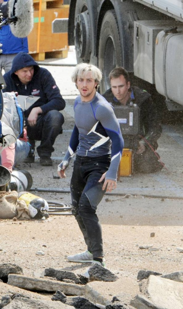 The Avengers Age Of Ultron: Elizabeth Olsen and Aaron ...