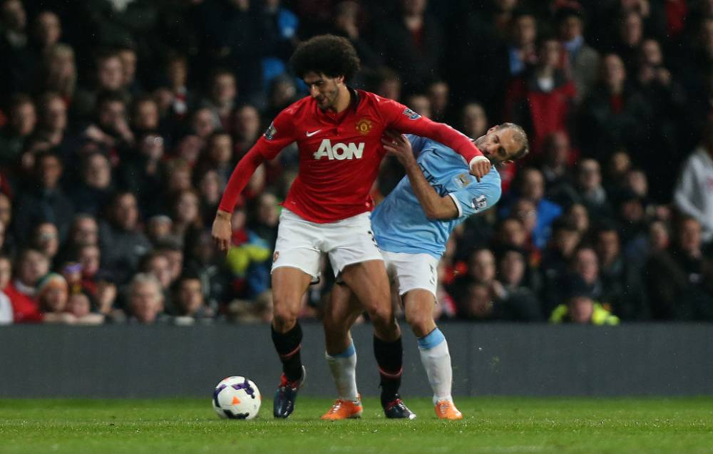 Pablo Zabaleta ran into my elbow during Manchester derby, claims Marouane Fellaini