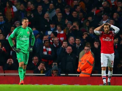 Mathieu Flamini's calamitous own goal against Swansea rounds off Arsenal's week