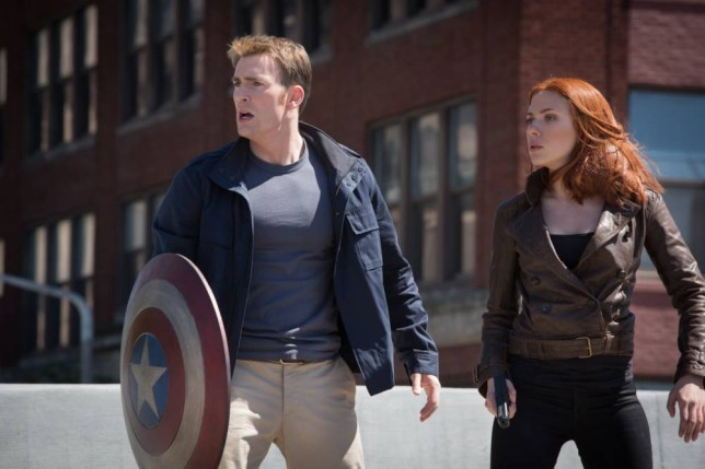Chris Evans and Scarlett Johansson seek answers in Captain America: The Winter Soldier (Picture: Zade Rosenthal)