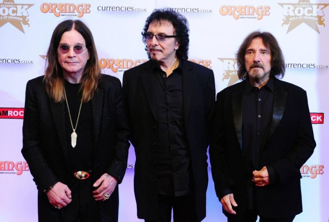 Back to Black: Osbourne, Iommi and Butler are excited to bag park gig (Picture: PA)