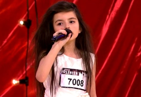 Angelina Jordan is a mini-Amy Winehouse in training (Picture: YouTube)
